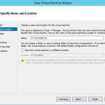 Ilustración 2 - Asistente de creación de Máquina Virtual en Windows Server 2012 R2: creación de equipo generación 2.