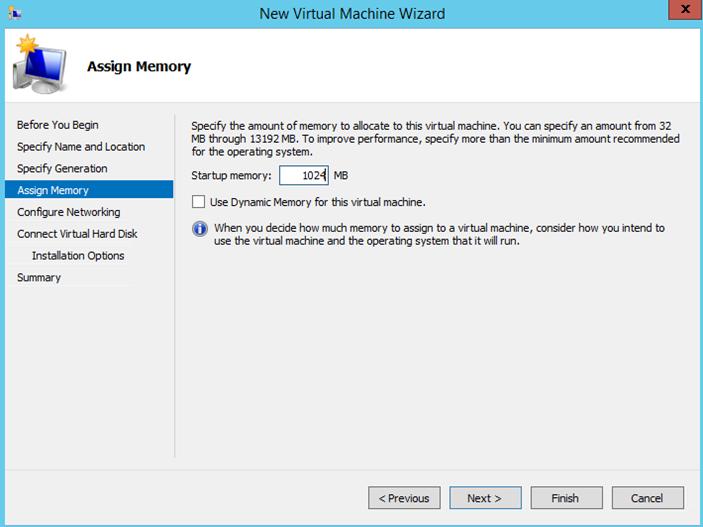 Ilustración 4 - Asistente de creación de Máquina Virtual en Windows Server 2012 R2: creación de equipo generación 2.