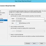 Ilustración 6 - Asistente de creación de Máquina Virtual en Windows Server 2012 R2: creación de equipo generación 2.
