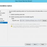 Ilustración 7 - Asistente de creación de Máquina Virtual en Windows Server 2012 R2: creación de equipo generación 2.