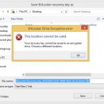 Ilustración 9 – Habilitación de BitLocker en Windows 8.1 Professional. Resguardo de la Clave de Recuperación.