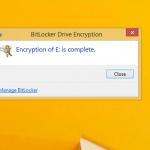 Ilustración 11 – Habilitación de BitLocker en Windows 8.1 Professional. Encriptación de la Unidad de Datos.