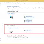 Ilustración 2 – Habilitación de BitLocker en Windows 8.1 Professional sobre el disco de datos.