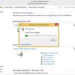 Ilustración 10 – Habilitación de BitLocker en Windows 8.1 Professional. Ejecución de la encriptación