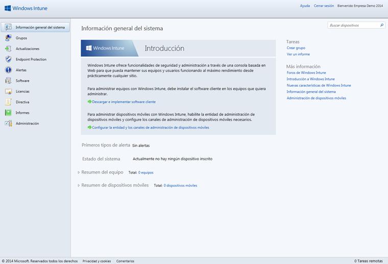 Ilustración 9 – Acceso a la Consola de Administración de Windows Intune.
