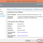 Ilustración 19 – Configuración de Dispositivos Windows Phone para administrarlos a través de Windows Intune. Publicación de aplicación firmada de ejemplo.
