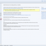 Ilustración 2 – Configuración de la Administración de Dispositivos Móviles en la Consola de Administración de Windows Intune: Configuración de Entidad de Administración.