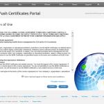 """Ilustración 28 – Configuración de Dispositivos iOS para administrarlos a través de Windows Intune. Generación de Certificado Digital en el Portal de """"Apple Push Certificate""""."""
