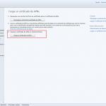 """Ilustración 31 – Configuración de Dispositivos iOS para administrarlos a través de Windows Intune. Subida del Certificado Digital generado en el Portal de """"Apple Push Certificate""""."""