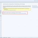 Ilustración 35 – Configuración de Microsoft Exchange para que cuentas de correo electrónico agregadas a dispositivos sean detectados por Windows Intune.