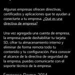 Ilustración 13 – Agregado de cuenta de Windows Intune para Administración Directa en un Windows Phone.