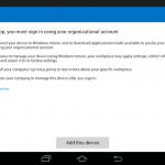 Ilustración 17 – Agregado de cuenta de Windows Intune para Administración Directa en un dispositivo Android. Configuración.