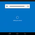 Ilustración 19 – Agregado de cuenta de Windows Intune para Administración Directa en un dispositivo Android. Configuración.