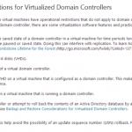 Ilustración 1 – Consideraciones oficiales de Microsoft sobre controladores de dominio virtualizados.