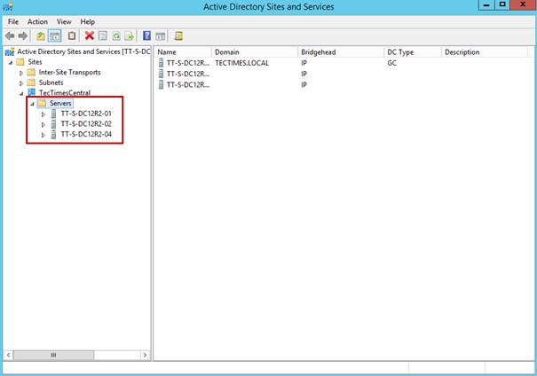 Ilustración 10 – Borrado de metadata desde Sitios y Servicios de Active Directory Domain Services.