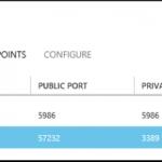 Ilustración 6 – Imagen de configuración de un EndPoint para un equipo virtual en Azure.