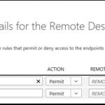 Ilustración 7 – Ilustración de una ACL para un EndPoint de Remote Desktop en máquinas virtuales de Azure.