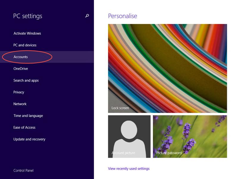 Ilustración 3 – Configuración de Acceso Asignado (Kiosk Mode) en Windows 8.1 | Creación del Usuario Local.