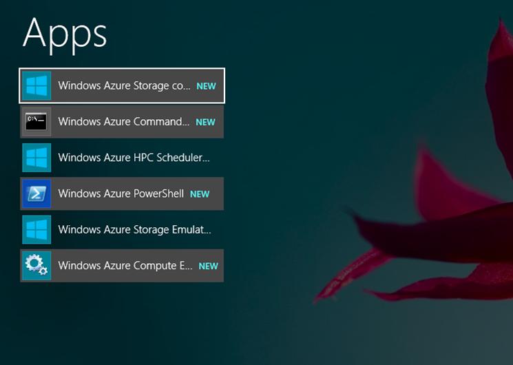 Ilustración 5 – Componentes instalados desde Microsoft Web Platform para Windows Azure PowerShell.