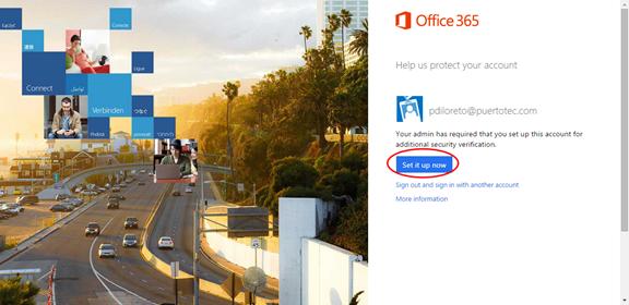 Ilustración 8 – Configuración de Autenticación Multifactor en Office 365 | Configuración del Usuario.