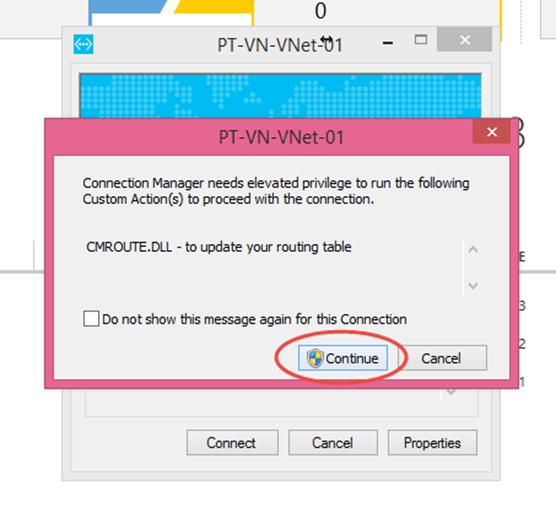 Ilustración 21 – Cliente VPN de Microsoft Azure para conexiones Point-To-Site: conexión desde Microsoft Windows.