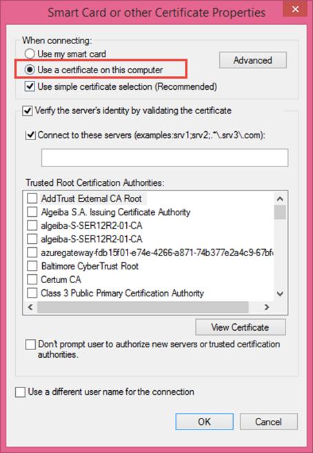 Ilustración 10 – Asistente para creación manual de marcado VPN Point-To-Site hacia Microsoft Azure.