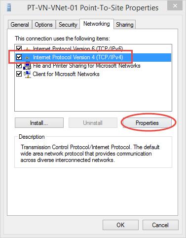 Ilustración 11 – Asistente para creación manual de marcado VPN Point-To-Site hacia Microsoft Azure.