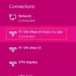 Ilustración 17 – Marcado VPN Point-To-Site hacia Microsoft Azure.