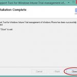 """Ilustración 11 – Configuración de Dispositivos Windows Phone para administrarlos a través de Windows Intune. Instalación de """"Support Tools""""."""