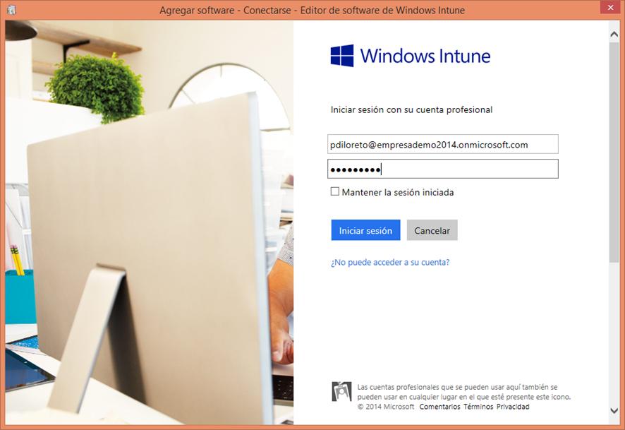 Ilustración 15 – Configuración de Dispositivos Windows Phone para administrarlos a través de Windows Intune. Publicación de aplicación firmada de ejemplo.