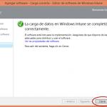 Ilustración 21 – Configuración de Dispositivos Windows Phone para administrarlos a través de Windows Intune. Publicación de aplicación firmada de ejemplo.