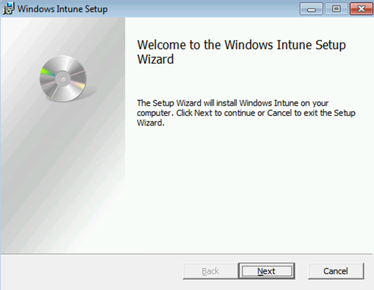 Ilustración 27 – Agregado de cuenta de Windows Intune en un equipo con Windows 8 o versión inferior (en este caso Windows 7). Instalación de Software de Windows Intune.