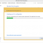 Ilustración 3 – Habilitación de BitLocker en Windows 8.1 Professional. Verificación de Requisitos del Sistema.