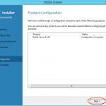 Ilustración 17 – Configuración de MySQL Server 5 en Windows Server | Ejecución de configuración seleccionada durante la instalación.