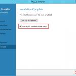 Ilustración 18 – Configuración de MySQL Server 5 en Windows Server | Finalización de la instalación y configuración.