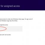 Ilustración 10 – Configuración de Acceso Asignado (Kiosk Mode) en Windows 8.1 | Configuración del Acceso Asignado para el Usuario Local.