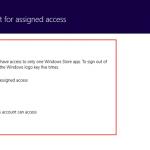Ilustración 18 – Configuración de Acceso Asignado (Kiosk Mode) en Windows 8.1 | Configuración de aplicación para el usuario local.