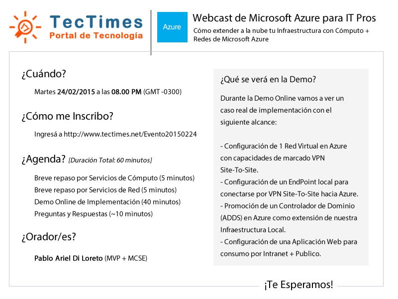 Evento 20150224 | Microsoft Azure