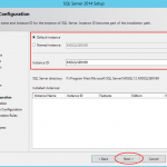Ilustración 9 – Instalación de SQL Server | Configuración de Instancia a instalar para el Motor de Base de Datos.