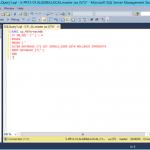 Ilustración 2 – Script de SQL Server que genera la salida necesaria para eliminar todas las bases de datos de la instancia.