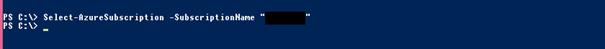 Ilustración 2 – Selección de suscripción en Azure través de PowerShell.