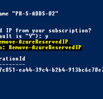 Ilustración 6 – Eliminación de Reserva de dirección IP pública [VIP] en Microsoft Azure a través de PowerShell.
