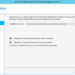 Ilustración 11 – Asistente para instalación del Proveedor de Azure Site Recovery en Hyper-V.