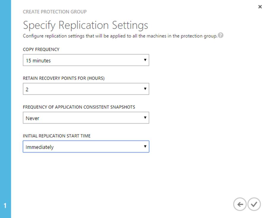 Ilustración 20 – Creación y Configuración de Grupo de Protección en Azure Site Recovery Vault: paso 2 de 2.