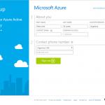 """Ilustración 10 – Registro de una nueva suscripción """"Access to Azure Active Directory"""" de Azure para administrar un Directorio de Office 365: solicitud de datos (sin tarjeta de crédito)."""