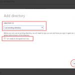 Ilustración 2 – Registro de un Directorio existente en Microsoft Azure.