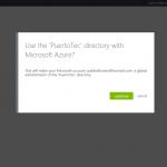 Ilustración 4 – Registro de un Directorio existente en Microsoft Azure: inicio de sesión con cuenta de Office 365.