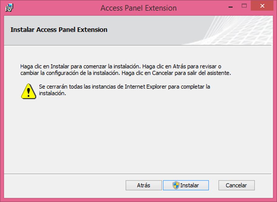 """Ilustración 28 – Instalación del complemento para Internet Explorer """"Access Panel Extension"""" para acceder a aplicaciones publicadas en Azure Active Directory."""