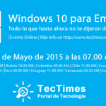 "Evento Online ""Windows 10 para Empresas"" del 09/05/2015"