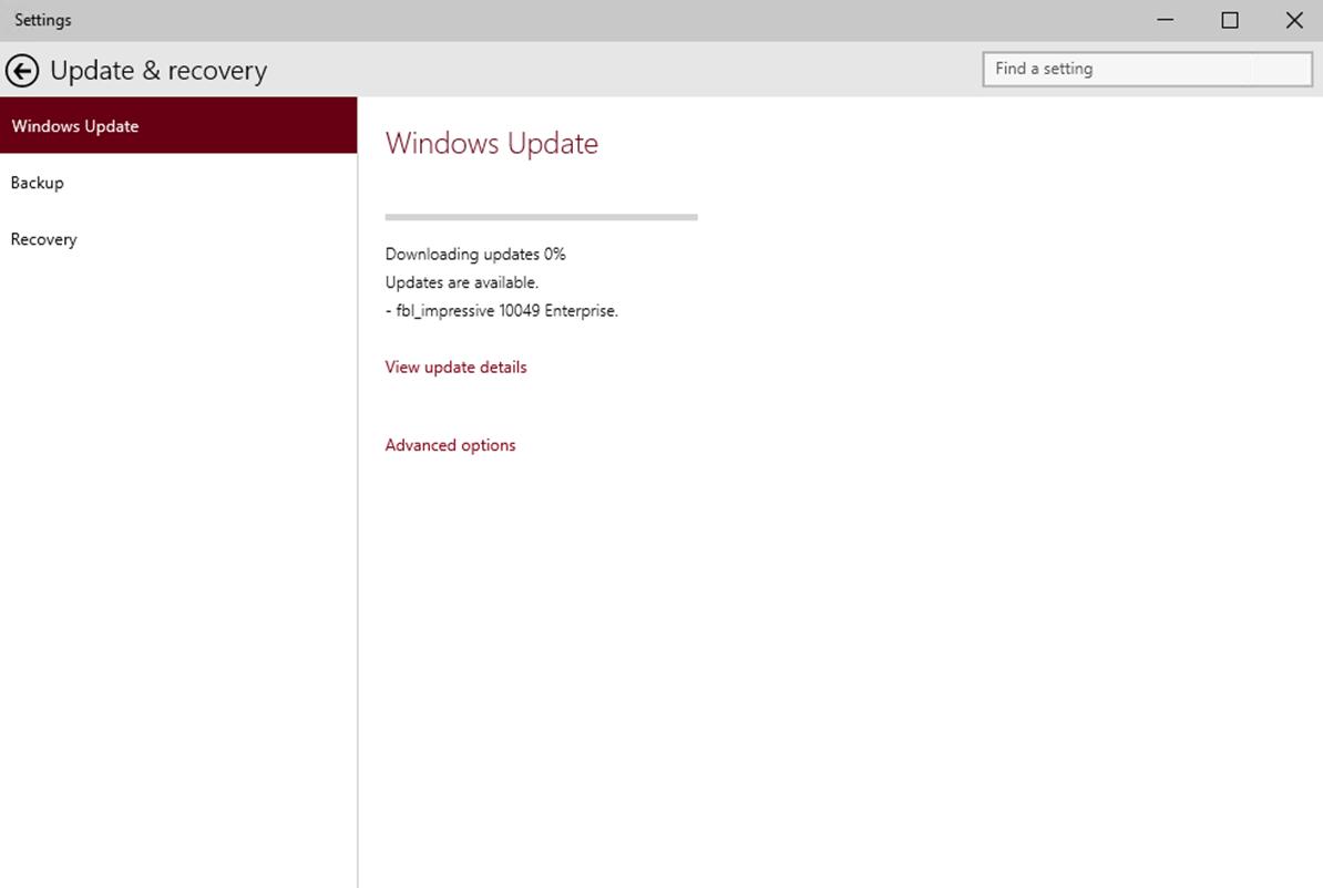Ilustración 4 – Descarga de nuevo Build de Windows 10 (Fast Ring).